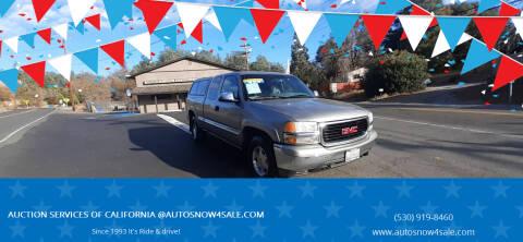2000 GMC Sierra 1500 for sale at AUCTION SERVICES OF CALIFORNIA in El Dorado CA