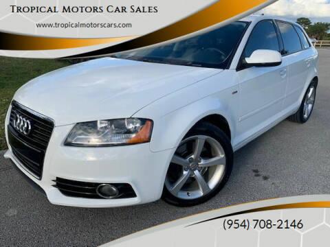 2012 Audi A3 for sale at Tropical Motors Car Sales in Deerfield Beach FL