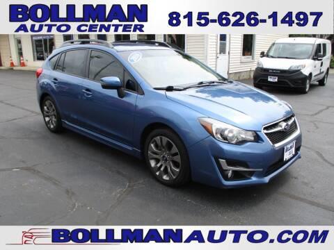 2016 Subaru Impreza for sale at Bollman Auto Center in Rock Falls IL