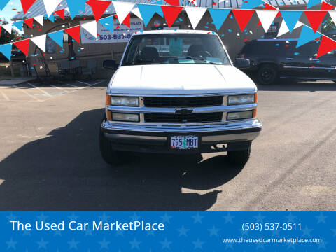 1995 Chevrolet C/K 1500 Series for sale at The Used Car MarketPlace in Newberg OR