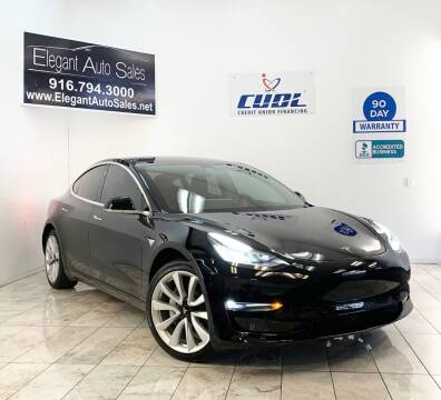 2018 Tesla Model 3 for sale at Elegant Auto Sales in Rancho Cordova CA