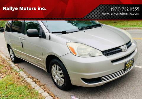 2004 Toyota Sienna for sale at Rallye  Motors inc. in Newark NJ