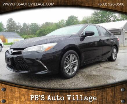 2016 Toyota Camry for sale at PB'S Auto Village in Hampton Falls NH