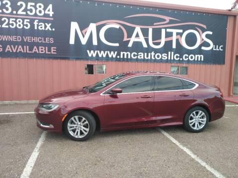 2016 Chrysler 200 for sale at MC Autos LLC in Pharr TX