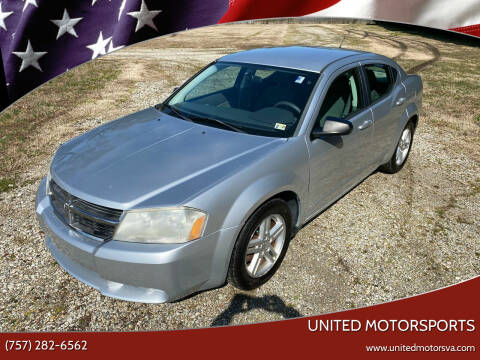 2008 Dodge Avenger for sale at United Motorsports in Virginia Beach VA