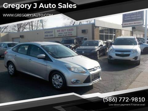 2012 Ford Focus for sale at Gregory J Auto Sales in Roseville MI