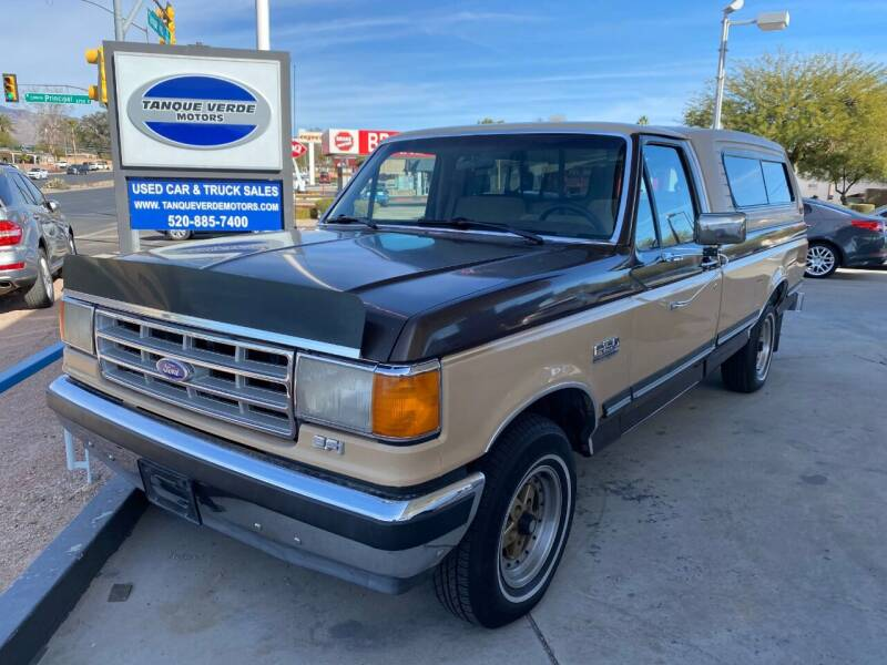 1988 Ford F-150 for sale at TANQUE VERDE MOTORS in Tucson AZ
