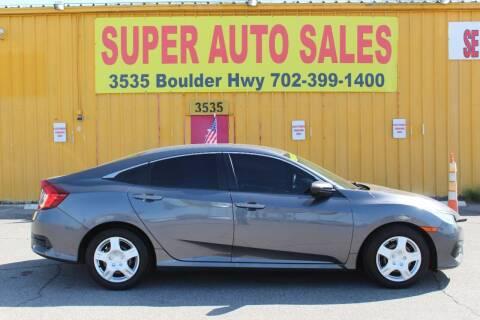2018 Honda Civic for sale at Super Auto Sales in Las Vegas NV