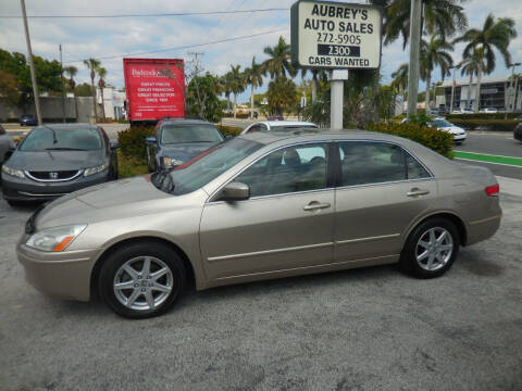 2003 Honda Accord for sale at Aubrey's Auto Sales in Delray Beach FL