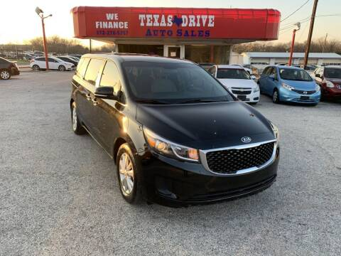 2016 Kia Sedona for sale at Texas Drive LLC in Garland TX