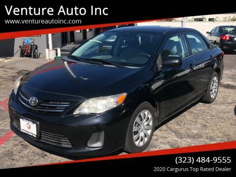 2013 Toyota Corolla for sale at Venture Auto Inc in South Gate CA