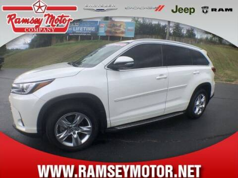 2017 Toyota Highlander for sale at RAMSEY MOTOR CO in Harrison AR