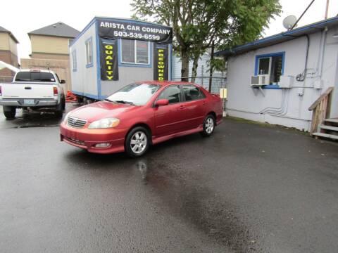 2005 Toyota Corolla for sale at ARISTA CAR COMPANY LLC in Portland OR