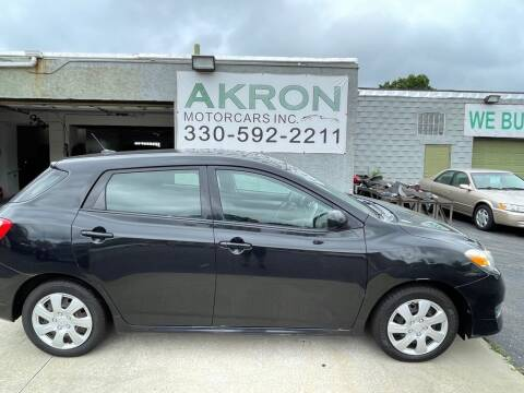 2010 Toyota Matrix for sale at Akron Motorcars Inc. in Akron OH