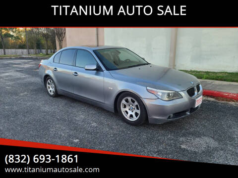 2007 BMW 5 Series for sale at TITANIUM AUTO SALE in Houston TX