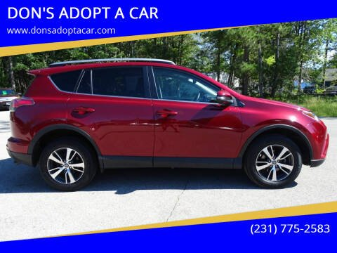 2018 Toyota RAV4 for sale at DON'S ADOPT A CAR in Cadillac MI