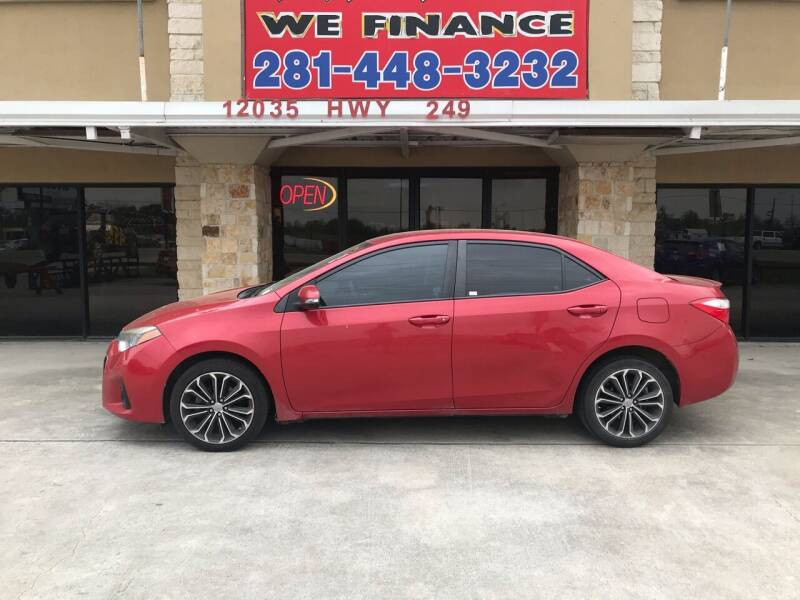 2015 Toyota Corolla for sale at FREDYS CARS FOR LESS in Houston TX