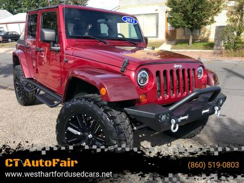 2012 Jeep Wrangler Unlimited for sale at CT AutoFair in West Hartford CT