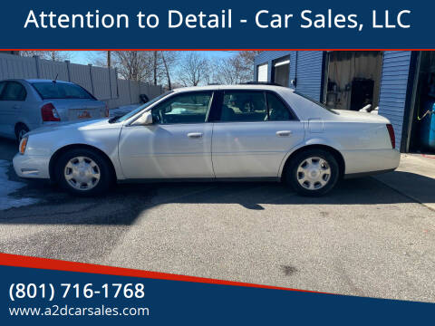 2002 Cadillac DeVille for sale at Attention to Detail - Car Sales, LLC in Ogden UT