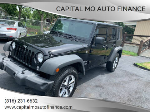 2014 Jeep Wrangler Unlimited for sale at Capital Mo Auto Finance in Kansas City MO