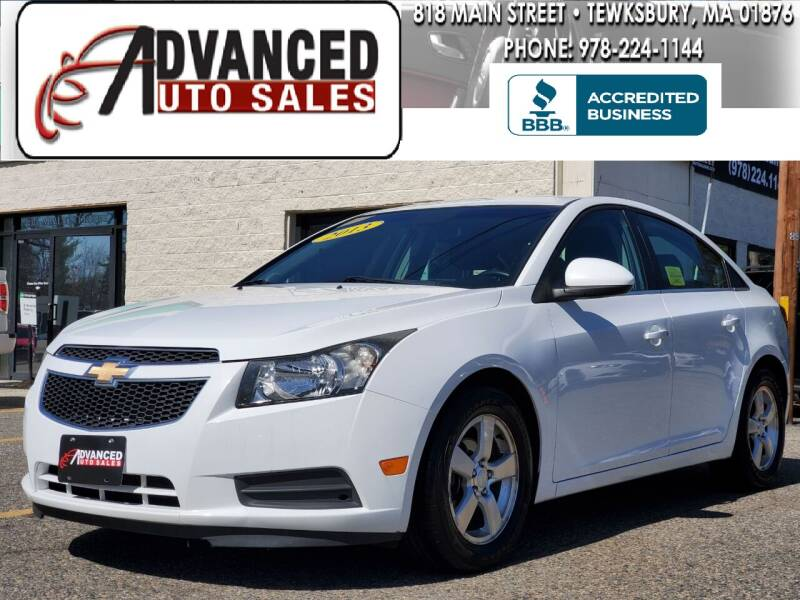 2013 Chevrolet Cruze for sale at Advanced Auto Sales in Tewksbury MA