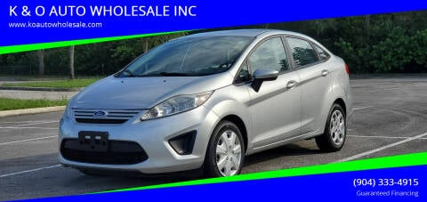2013 Ford Fiesta for sale at K & O AUTO WHOLESALE INC in Jacksonville FL