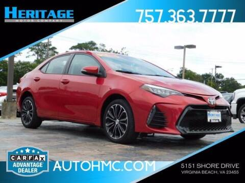 2017 Toyota Corolla for sale at Heritage Motor Company in Virginia Beach VA