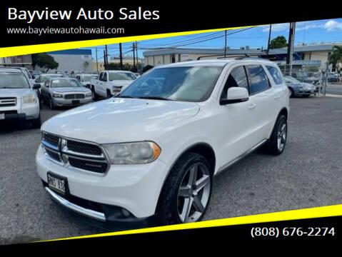 2012 Dodge Durango for sale at Bayview Auto Sales in Waipahu HI