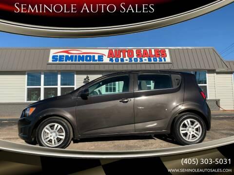 2014 Chevrolet Sonic for sale at Seminole Auto Sales in Seminole OK