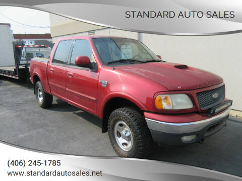 2001 Ford F-150 for sale at Standard Auto Sales in Billings MT