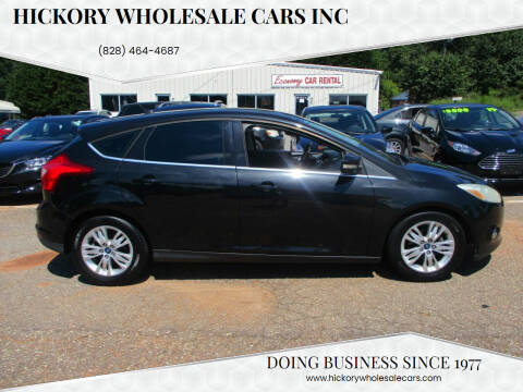 2012 Ford Focus for sale at Hickory Wholesale Cars Inc in Newton NC