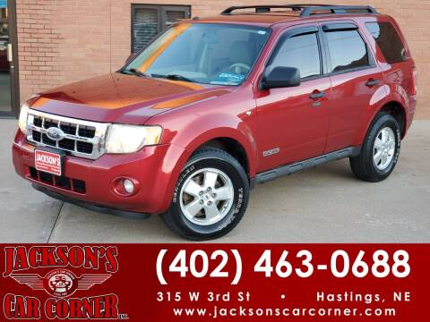 2008 Ford Escape for sale at Jacksons Car Corner Inc in Hastings NE
