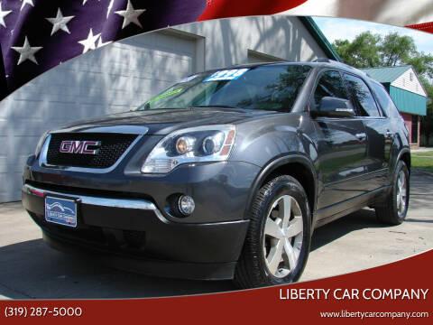 2012 GMC Acadia for sale at Liberty Car Company - II in Waterloo IA