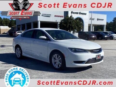 2015 Chrysler 200 for sale at SCOTT EVANS CHRYSLER DODGE in Carrollton GA