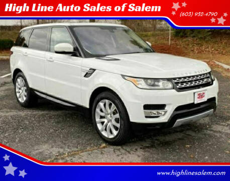 2016 Land Rover Range Rover Sport for sale at High Line Auto Sales of Salem in Salem NH