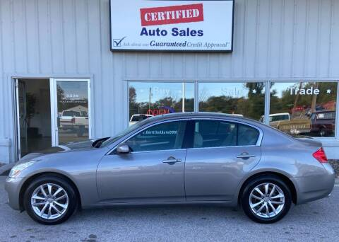 2007 Infiniti G35 for sale at Certified Auto Sales in Des Moines IA
