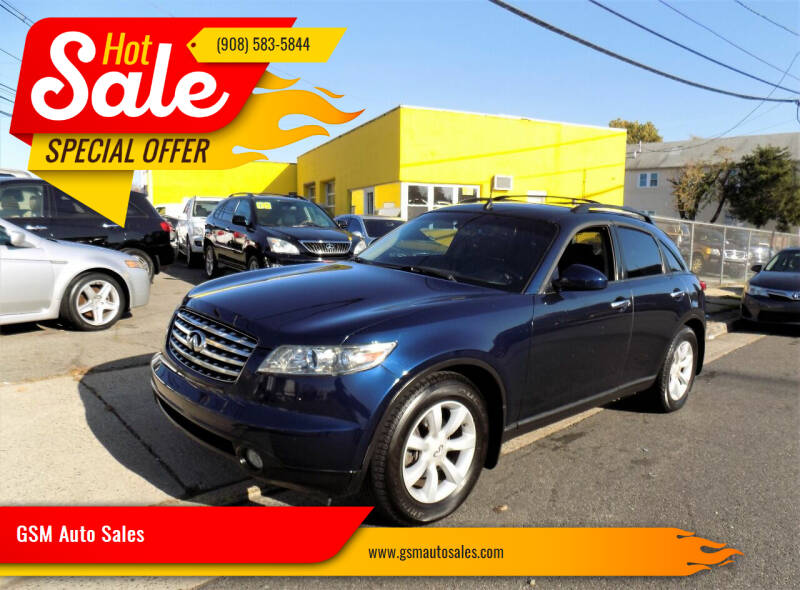 2005 Infiniti FX35 for sale at GSM Auto Sales in Linden NJ