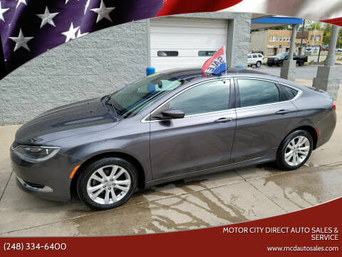 2015 Chrysler 200 for sale at Motor City Direct Auto Sales & Service in Pontiac MI
