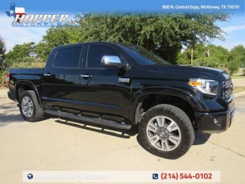 2021 Toyota Tundra for sale at HOPPER MOTORPLEX in Mckinney TX