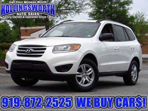2012 Hyundai Santa Fe for sale at Hollingsworth Auto Sales in Raleigh NC