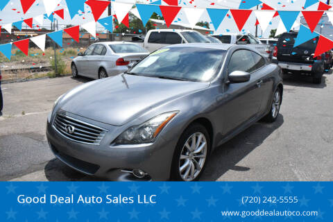 2011 Infiniti G37 Coupe for sale at Good Deal Auto Sales LLC in Denver CO
