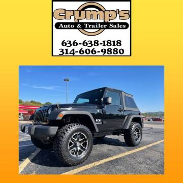 2009 Jeep Wrangler for sale at CRUMP'S AUTO & TRAILER SALES in Crystal City MO