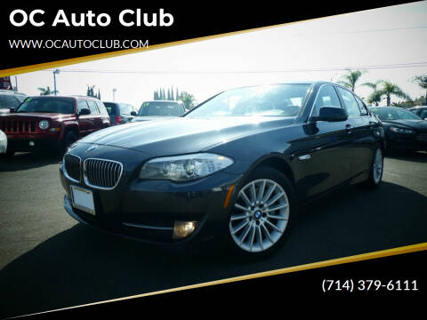 2013 BMW 5 Series for sale at OC Auto Club in Midway City CA