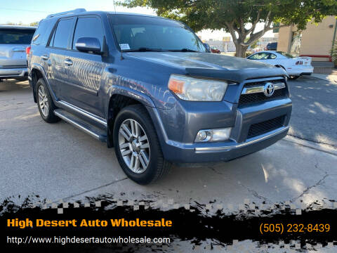 2013 Toyota 4Runner for sale at High Desert Auto Wholesale in Albuquerque NM