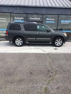2010 Nissan Armada for sale at Georgia Certified Motors in Stockbridge GA