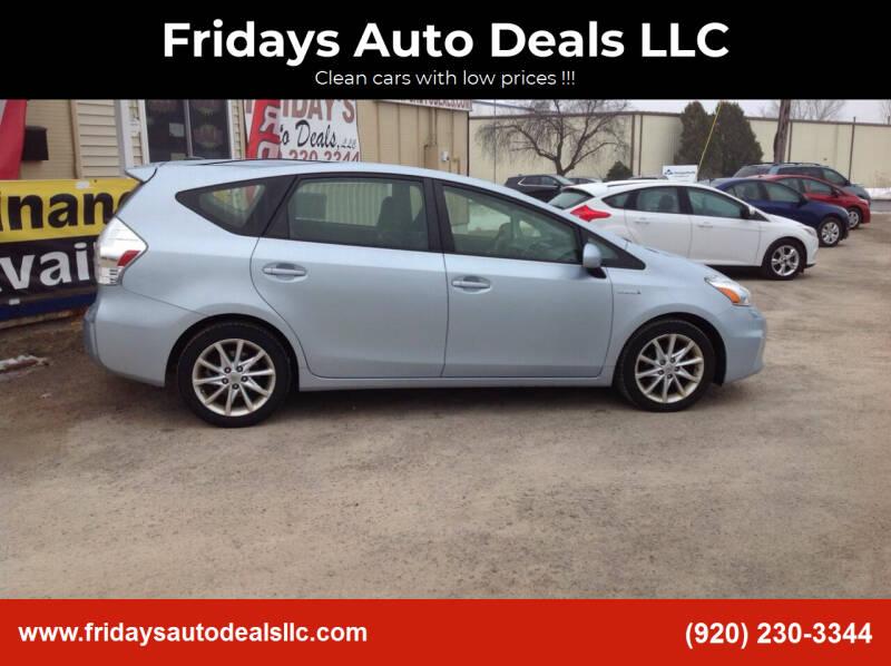 2013 Toyota Prius v for sale at Fridays Auto Deals LLC in Oshkosh WI