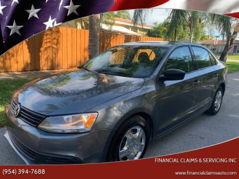 2012 Volkswagen Jetta for sale at FINANCIAL CLAIMS & SERVICING INC in Hollywood FL
