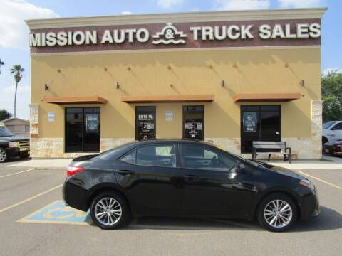 2014 Toyota Corolla for sale at Mission Auto & Truck Sales, Inc. in Mission TX