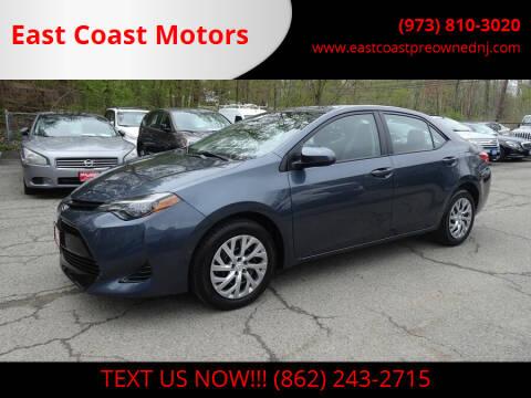 2019 Toyota Corolla for sale at East Coast Motors in Lake Hopatcong NJ