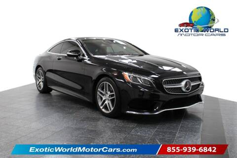2015 Mercedes-Benz S-Class for sale at Exotic World Motor Cars in Addison TX